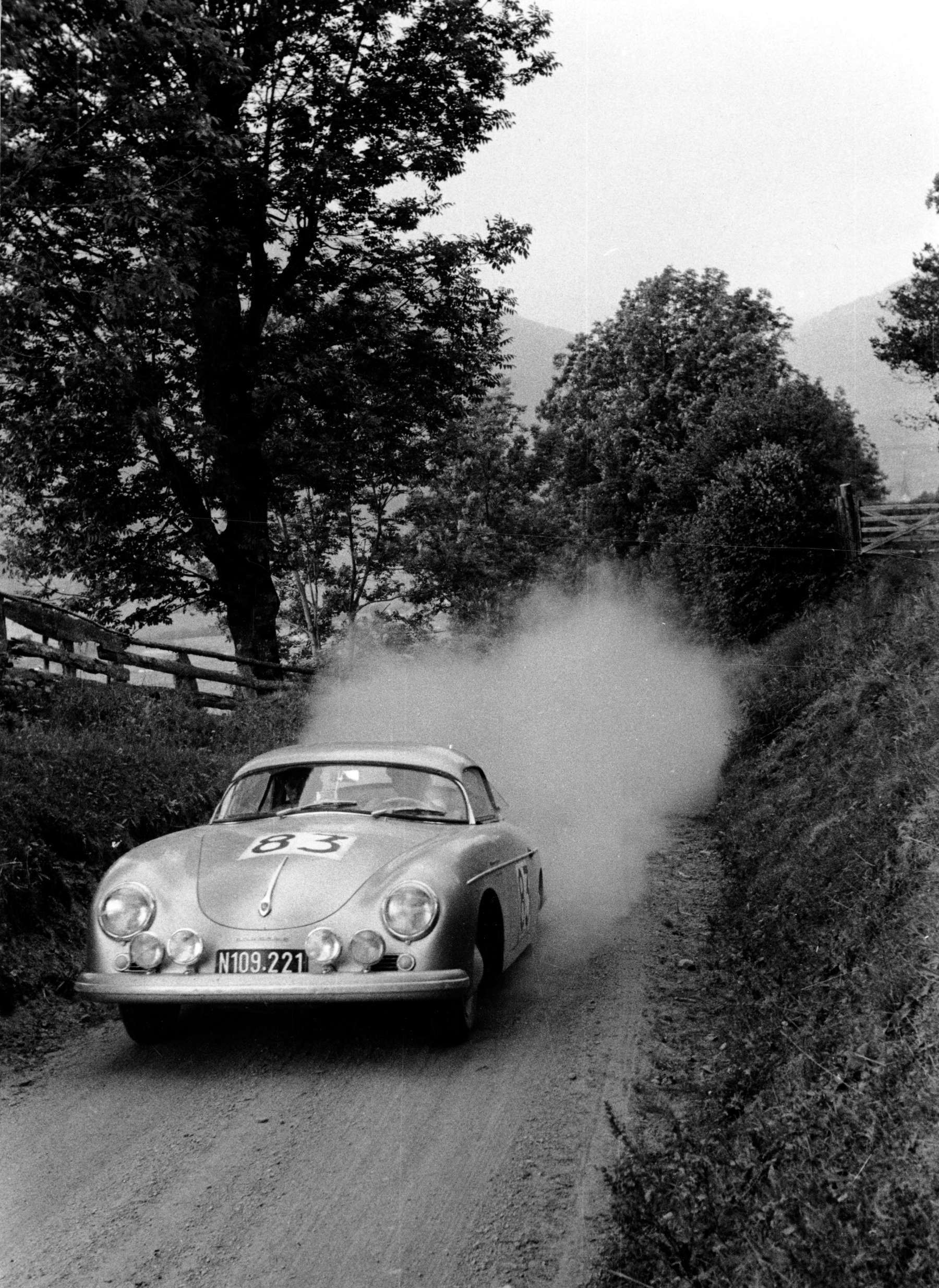 Ernst Kraus im Porsche Typ 356 A 1500