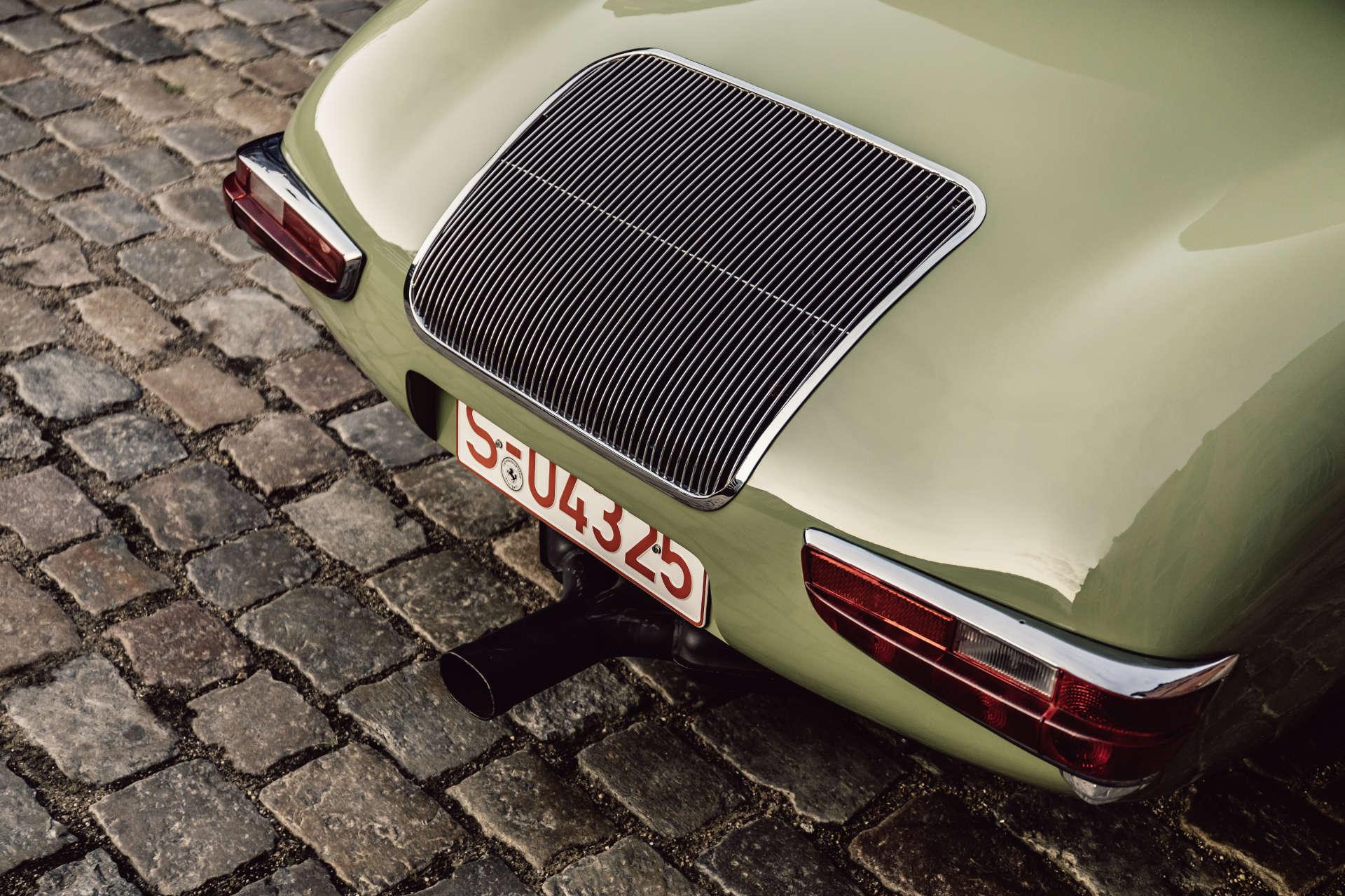 Heckansicht des Wendler-Porsche.