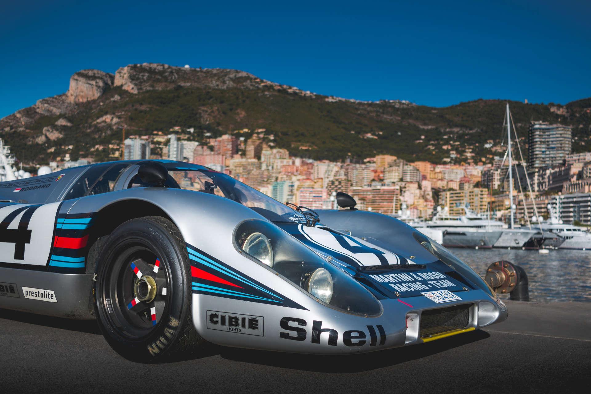 Porsche 917 in Monacos Straßen