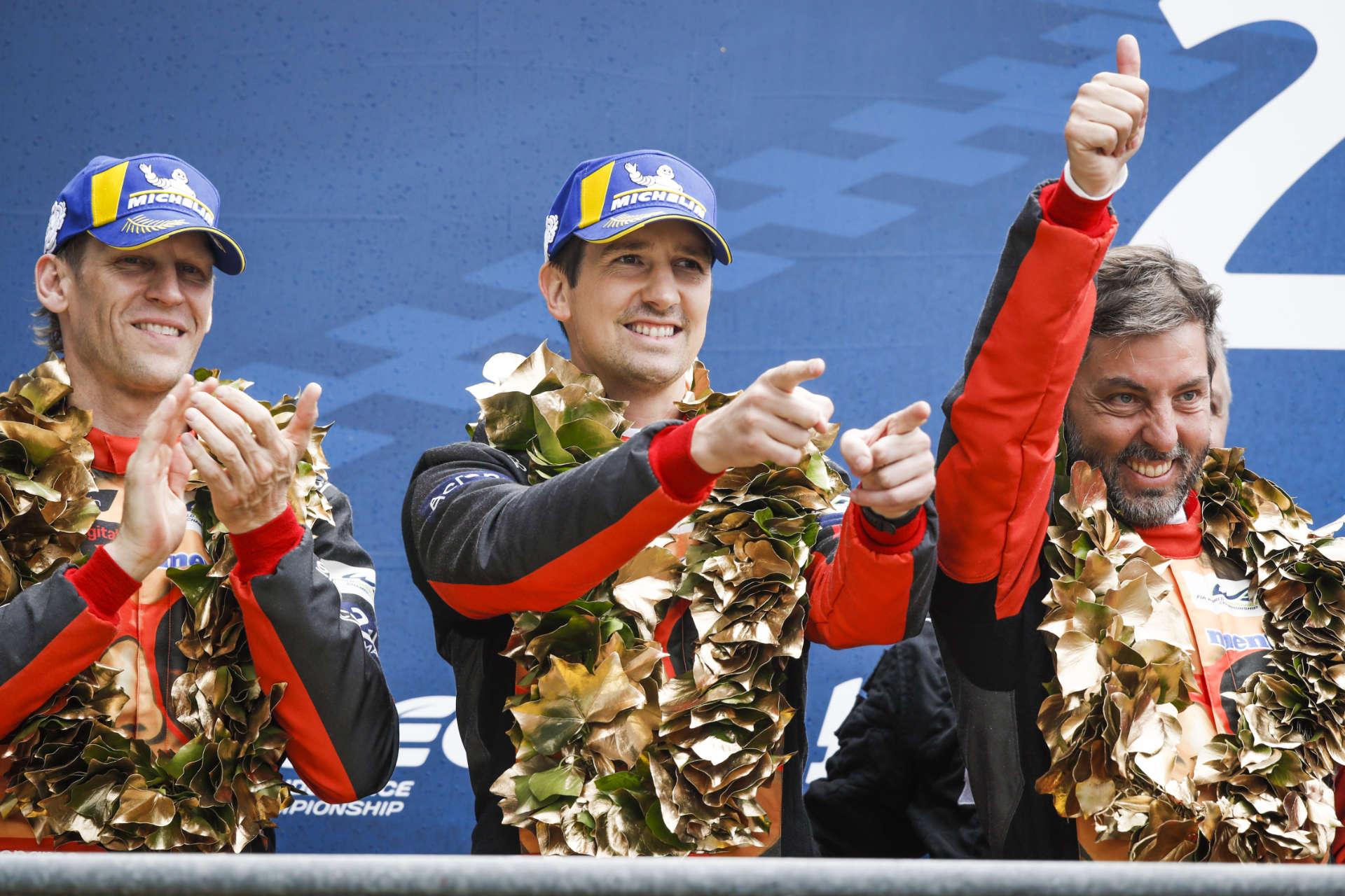 Jörg Bergmeister, Patrick Lindsey und Egidio Perfetti in Le Mans 2019