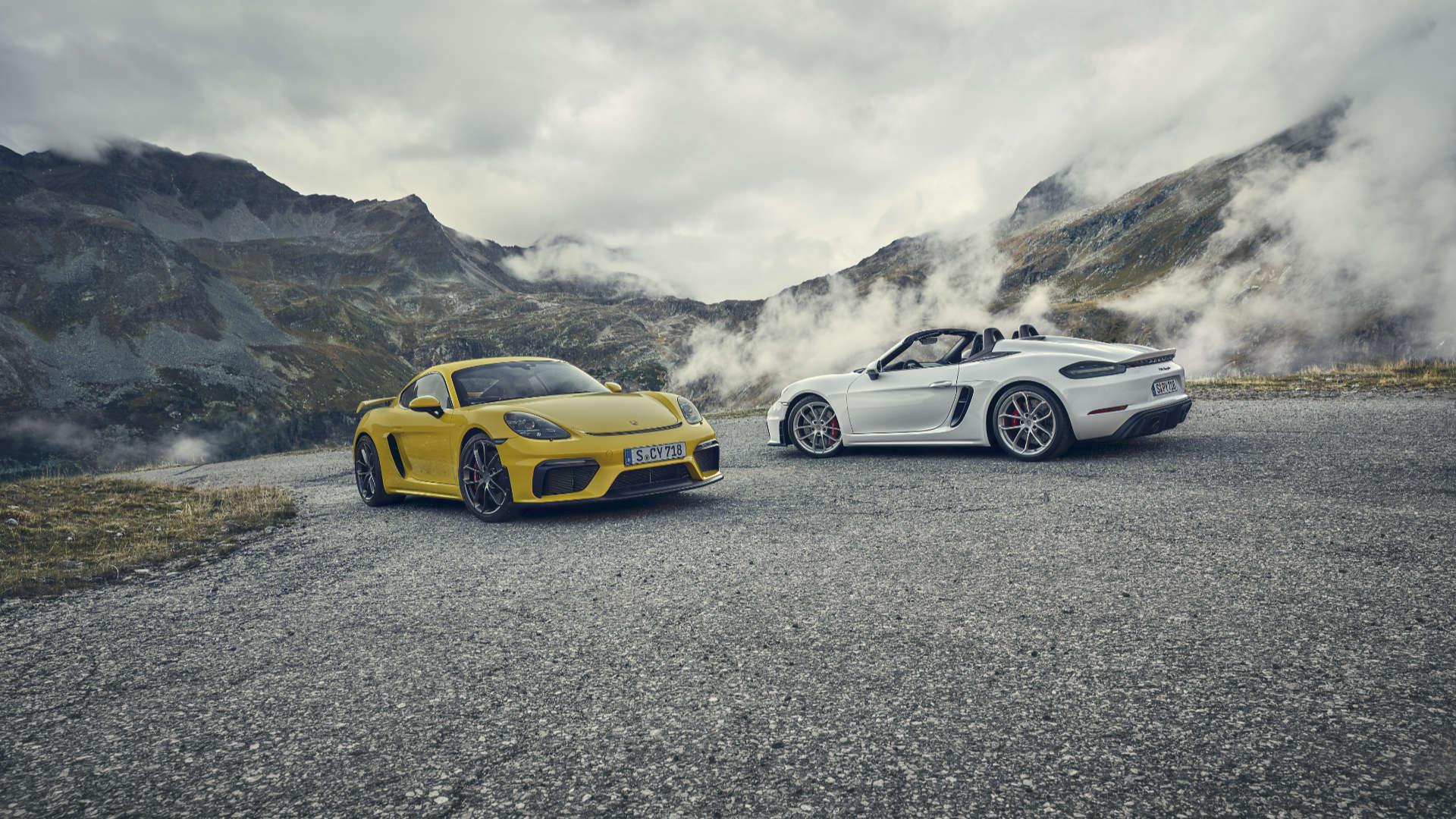 Porsche 718 Spyder und 718 Cayman GT4