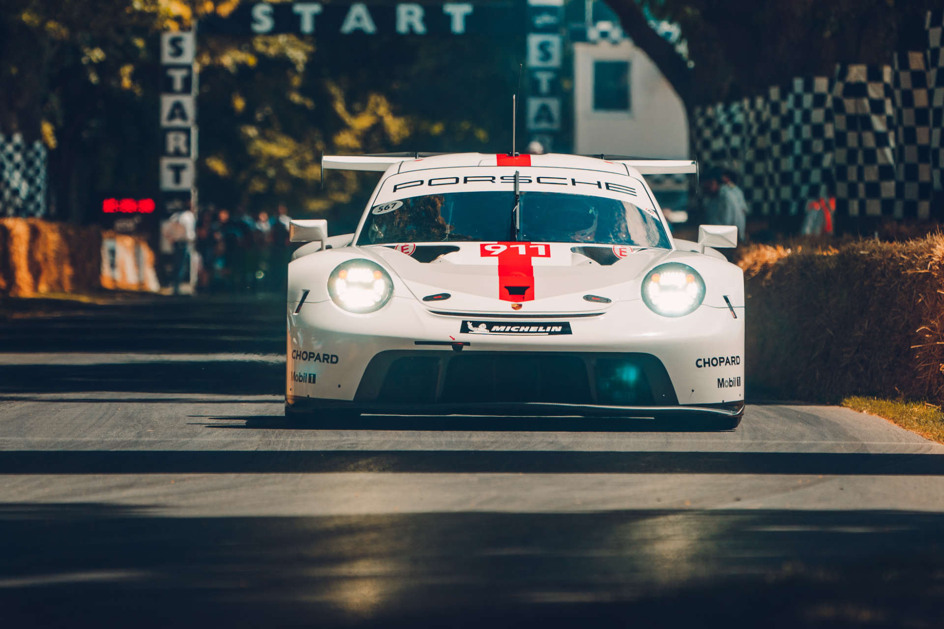 Der neue Porsche 911 RSR beim Goodwood Festival of Speed.