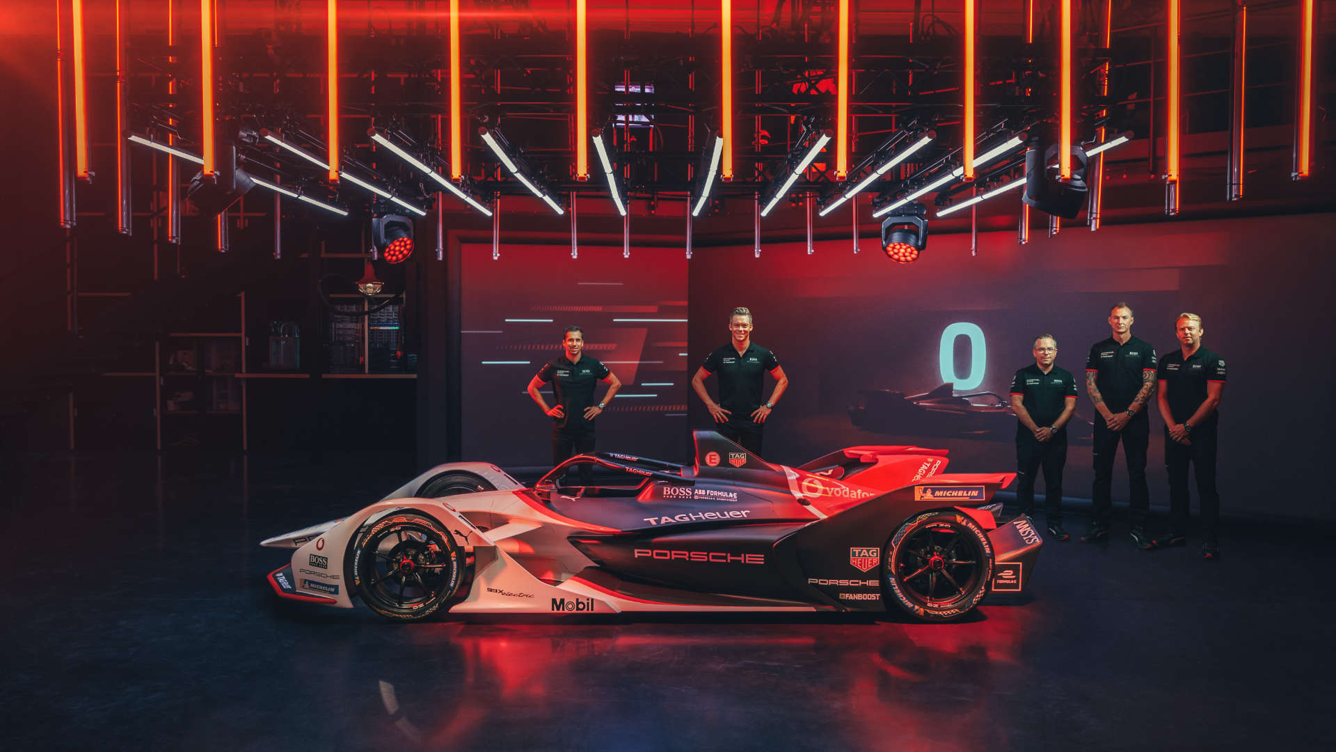 Präsentation Porsche 99X Electric Neel Jani, André Lotterer, Pascal Zurlinden, Amiel Lindesay, Carlo Wiggers