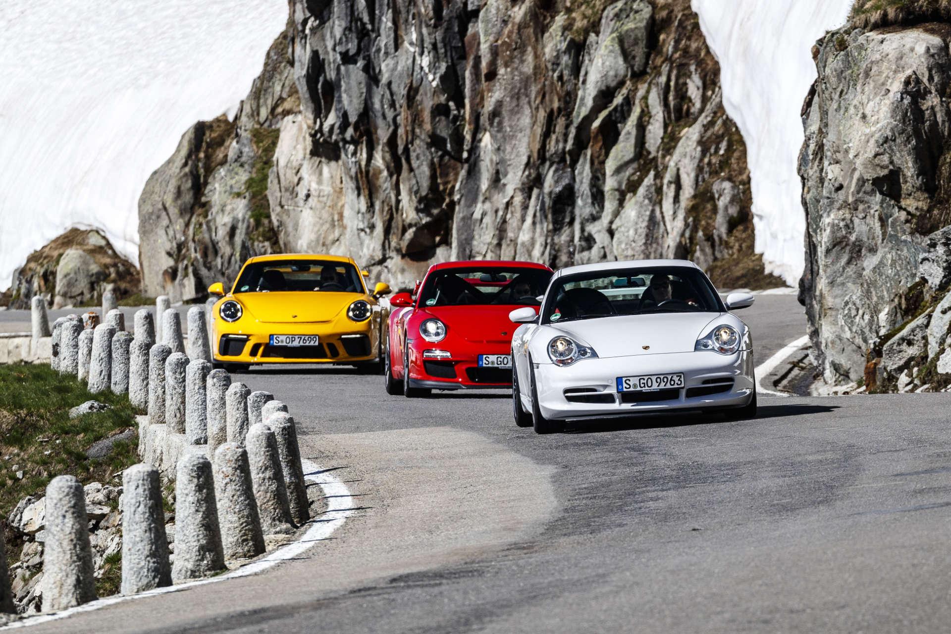 GT3 996.2, 997.2 und 991.2