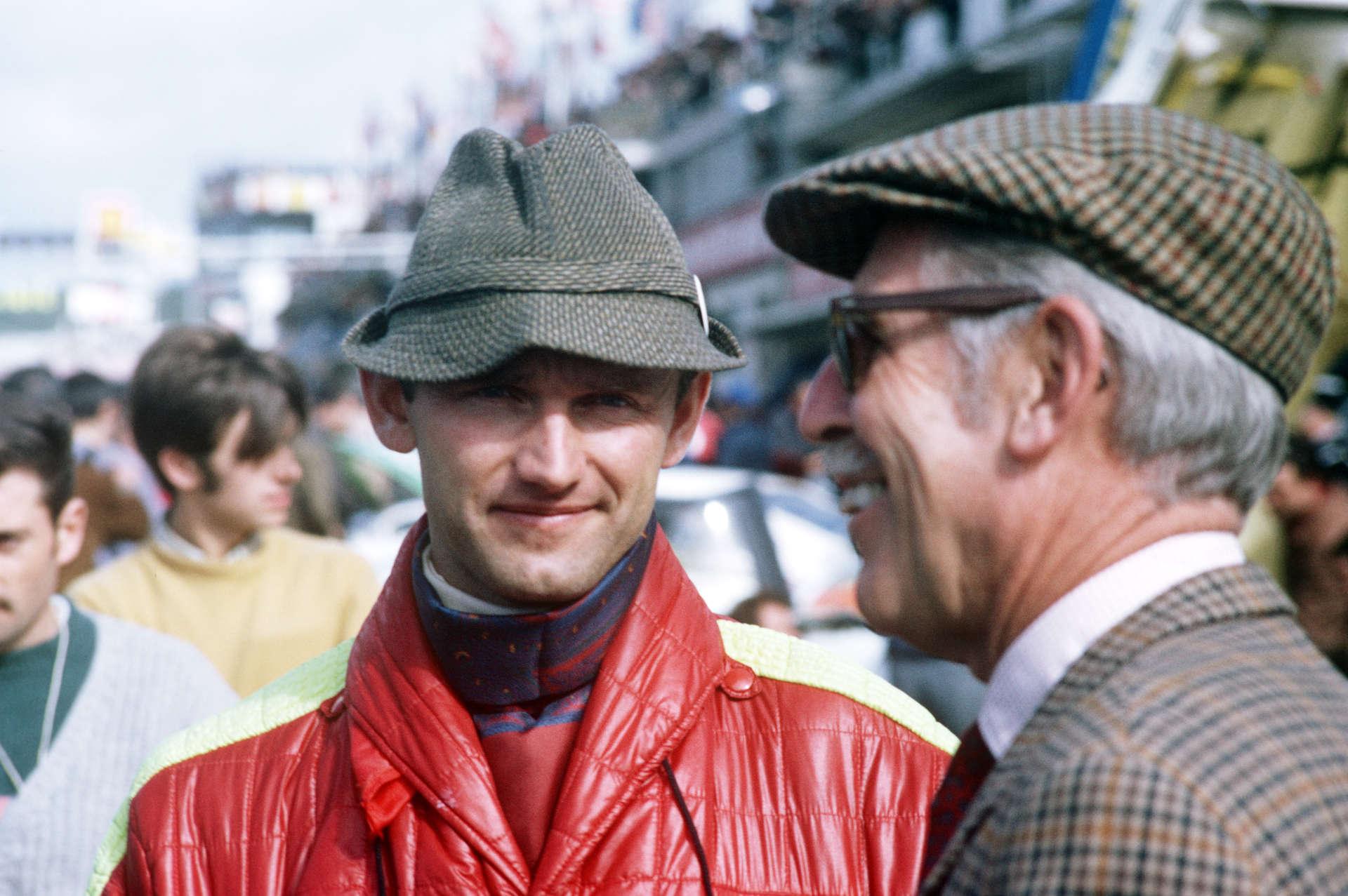 Ferdinand Piëch und Huschke v. Hanstein 1968 in Le Mans.