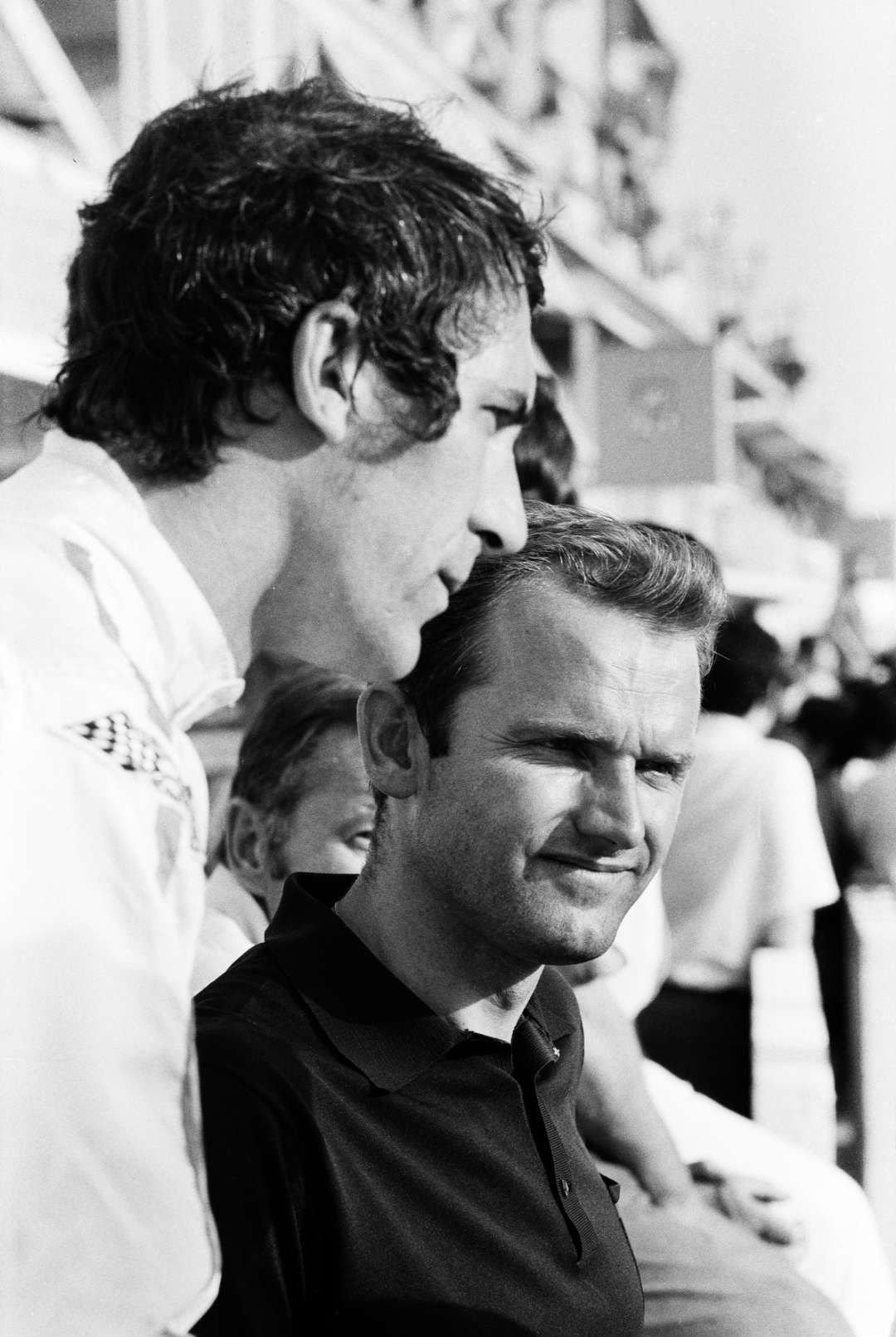 Ferdinand Piëch (rechts) und Vic Elford (links) in Le Mans 1969.