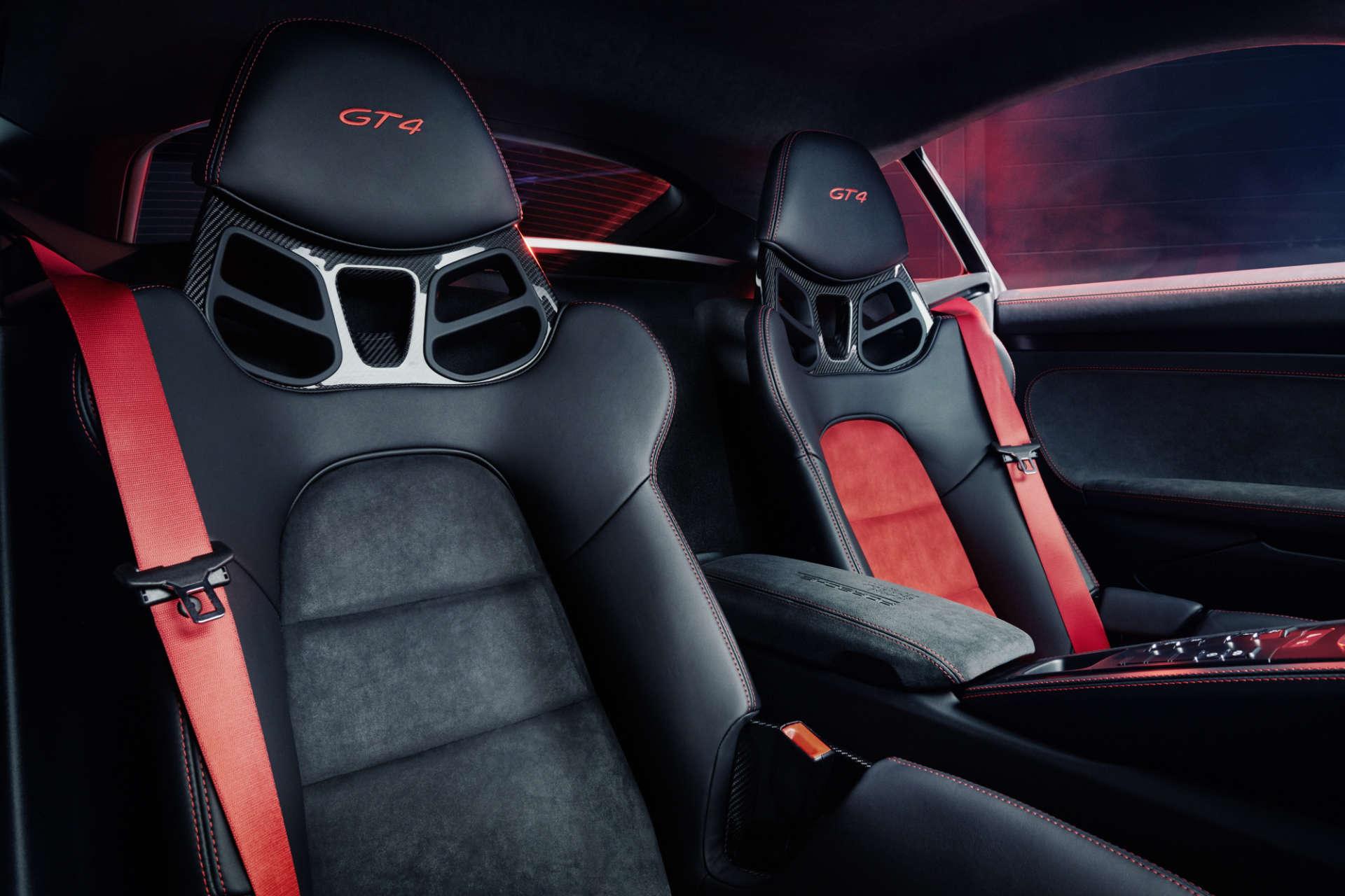 Interior Porsche 718 Cayman GT4 Sports Cup Edition
