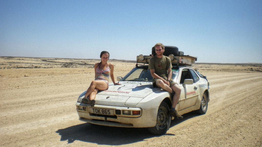 Porsche 944 in Namibia