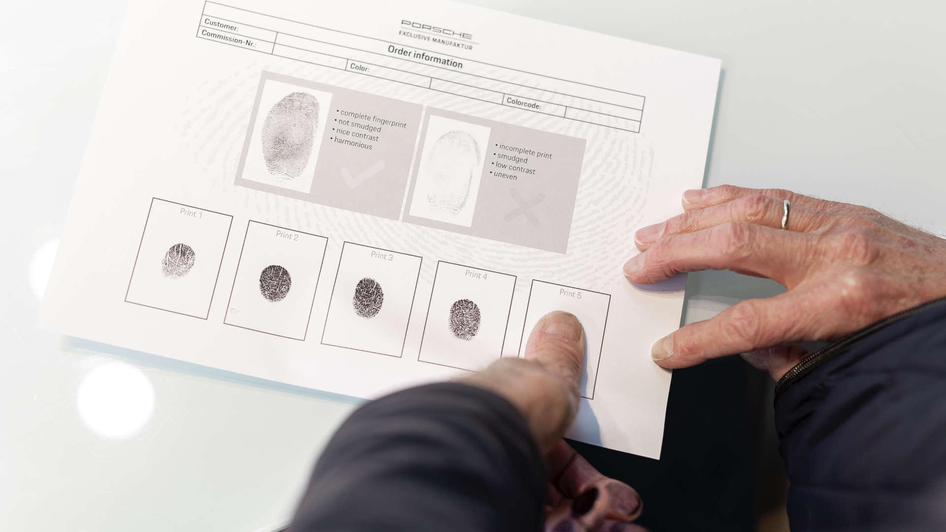 Porsche 911 Gijs van Lennep Fingerabdruck