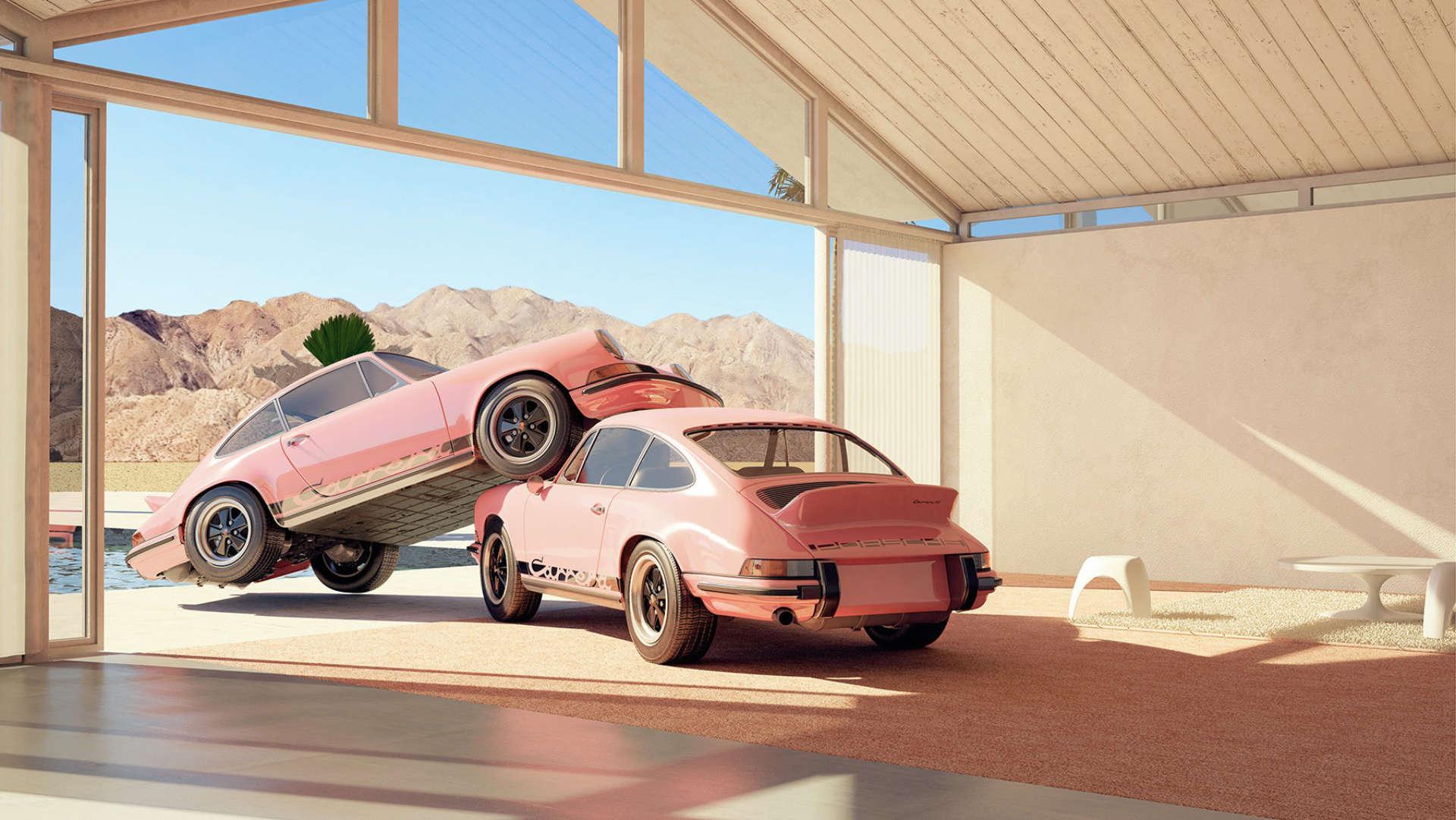 Chris Labrooy rosa 911 Carrera RS