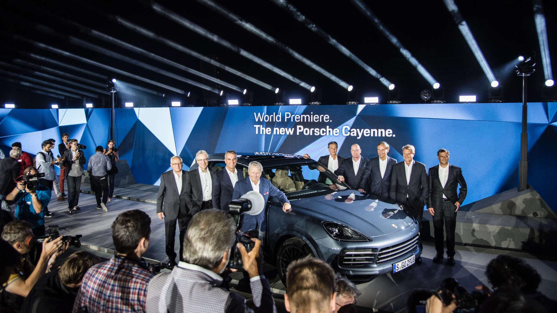 Dritte Porsche Cayenne-Generation E3 Weltpremiere