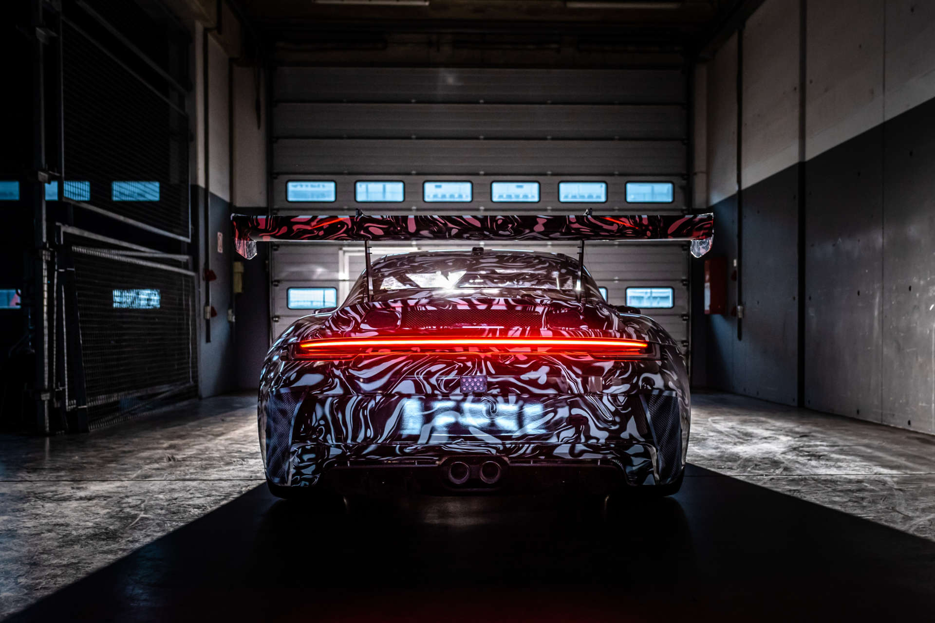 Porsche 911 GT3 Cup getarnt Heck