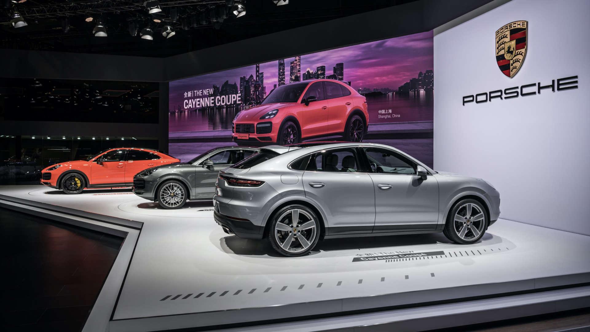 Messepremiere Porsche Cayenne Coupé Shanghai