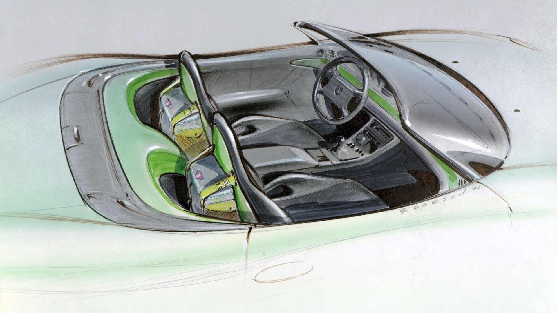 Porsche Boxster Studie Zeichnung