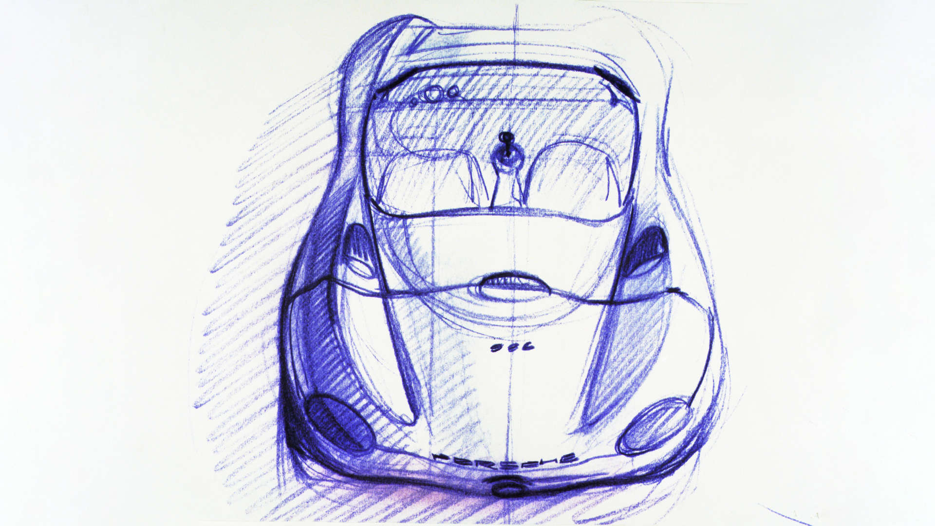 Porsche Boxster Studie Designskizze