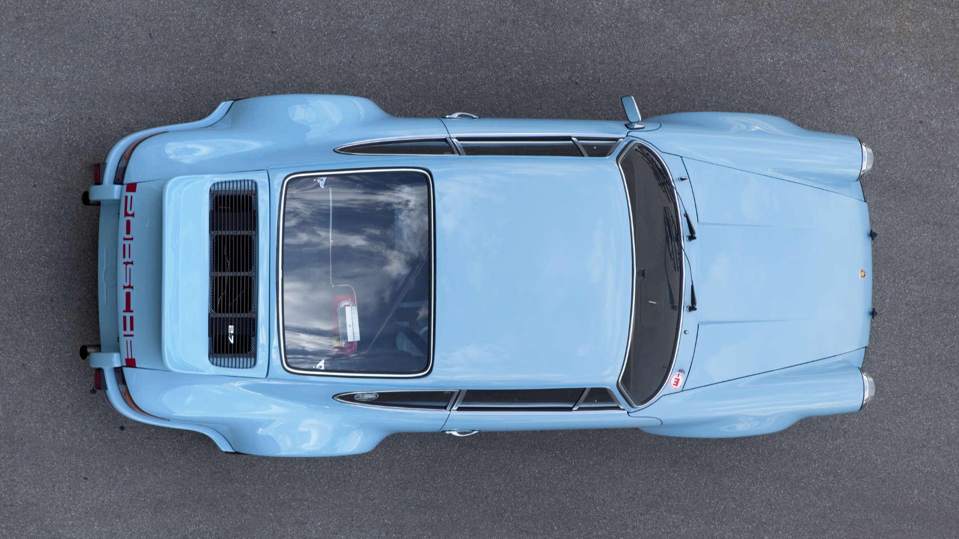 Porsche 911 RSR Draufsicht