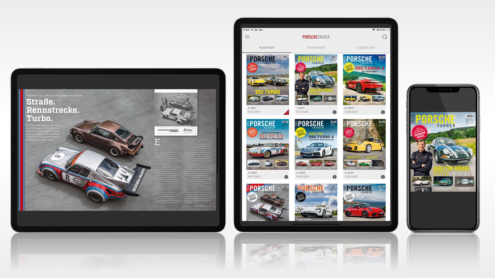 Porsche Fahrer ePaper App Header