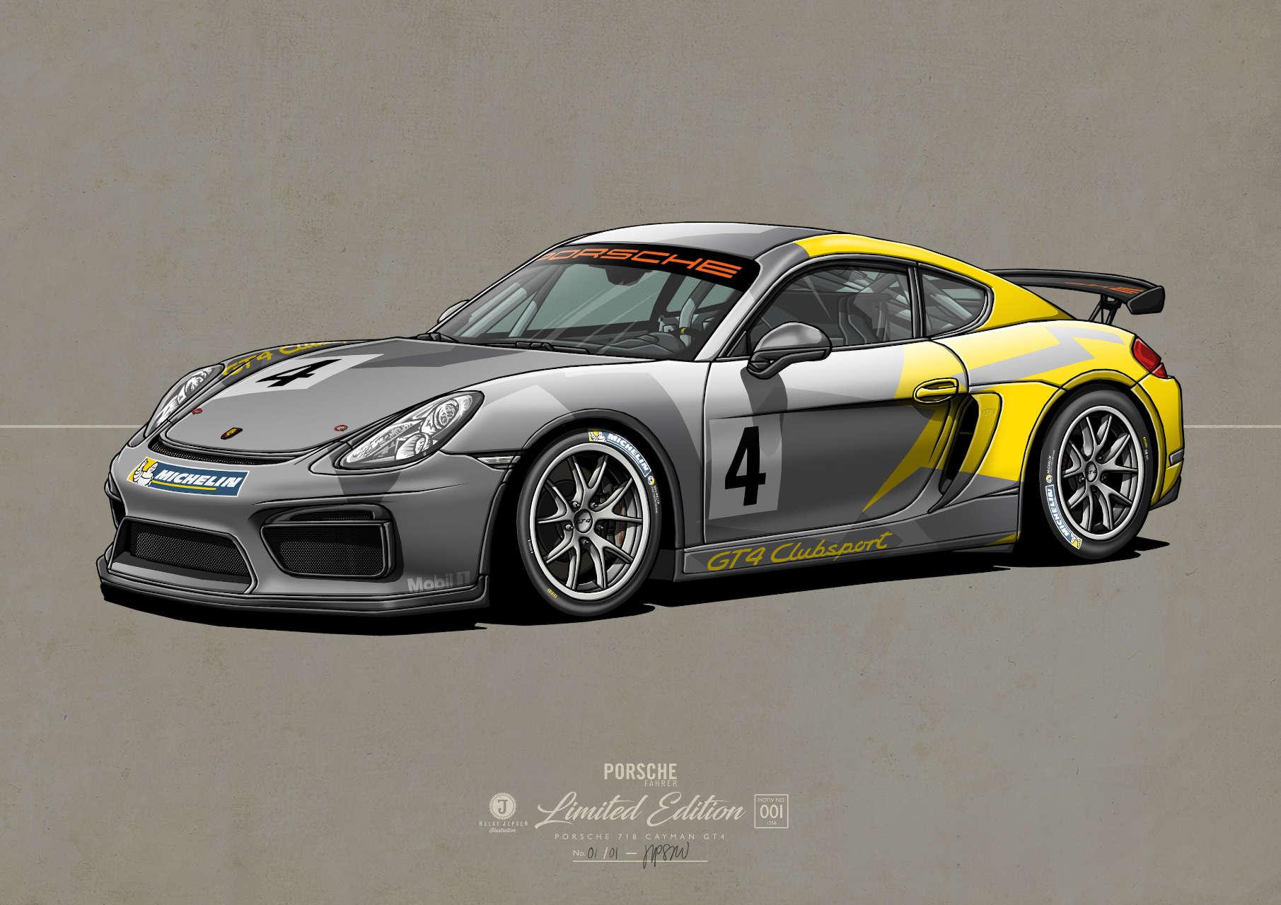 Porsche 718 Cayman GT4 Kunstwerk
