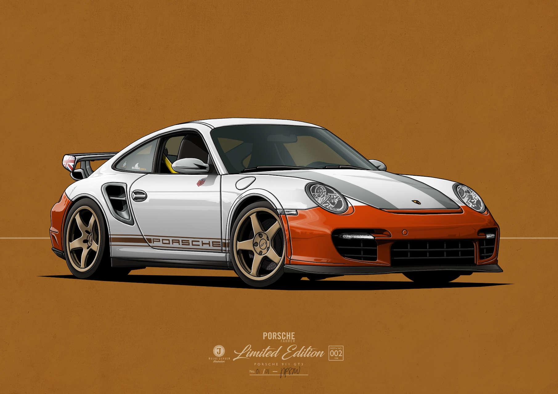 Porsche 911 GT3 Kunstwerk