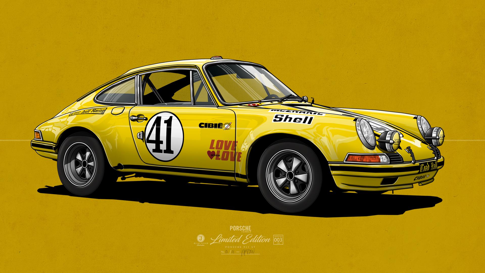 Porsche 911 ST Kunstwerk