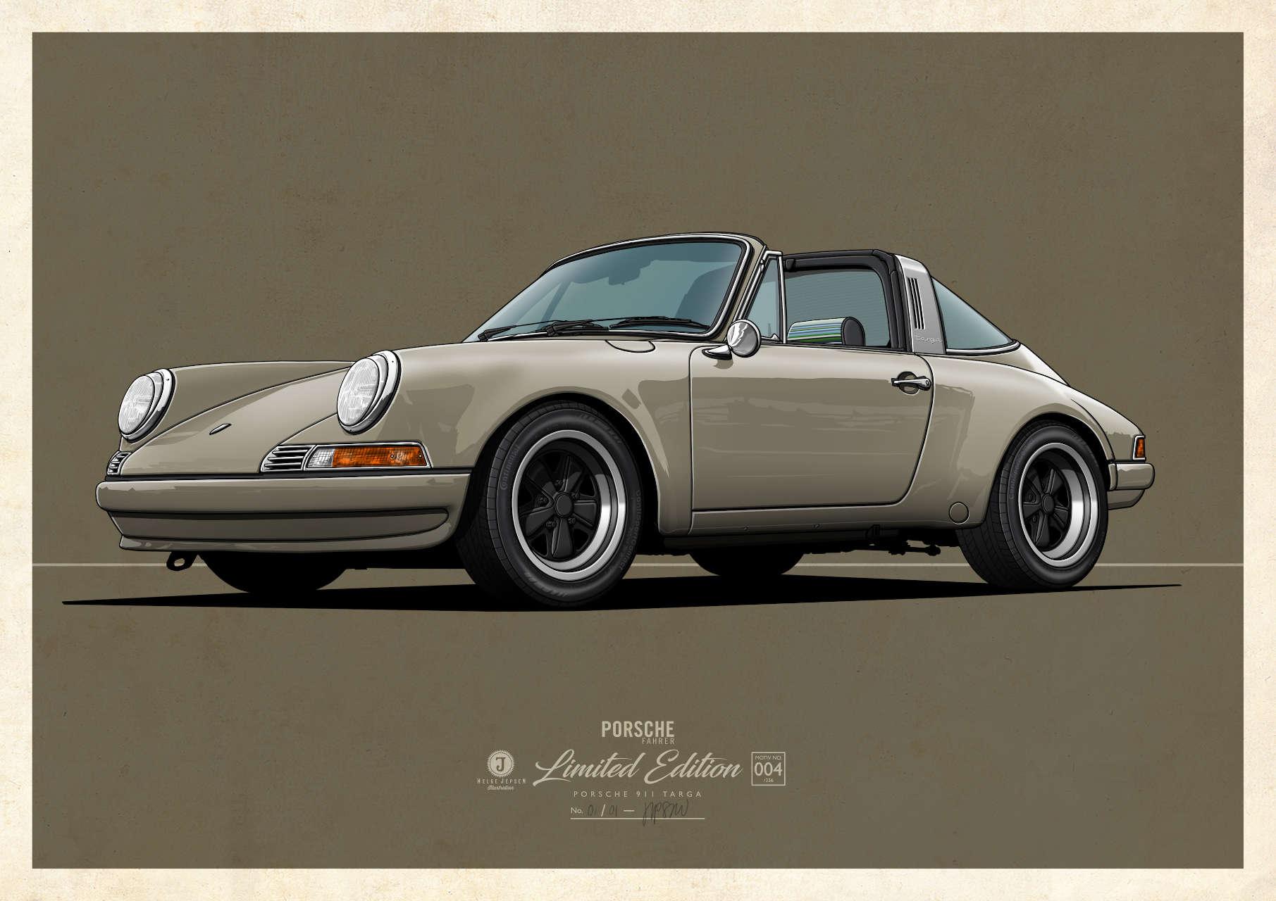Porsche 911 targa Kunstwerk