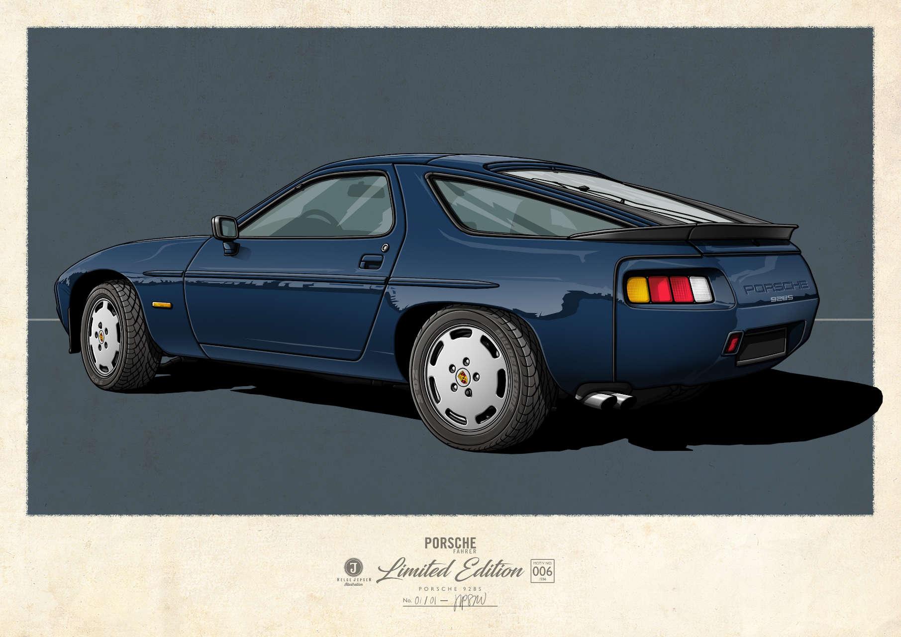 Porsche 928S Kunstwerk