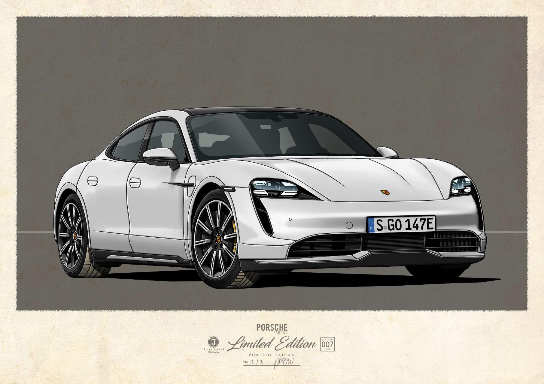 Porsche Taican Kunstwerk