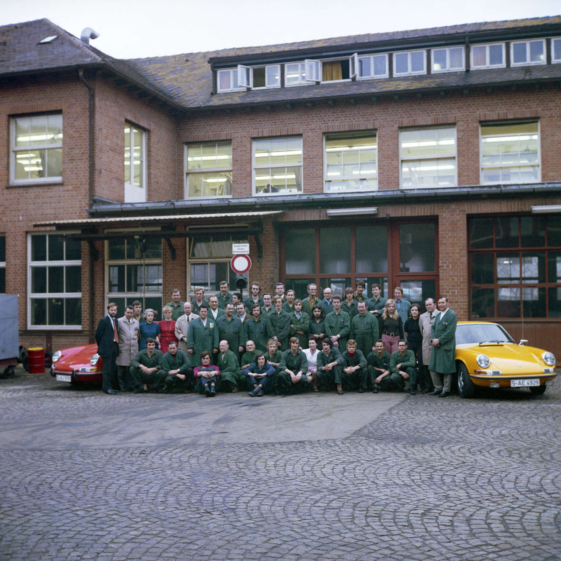Reparatur-Kundendienst 1972 im Werk 1 in Zuffenhausen Rolf Sprenger