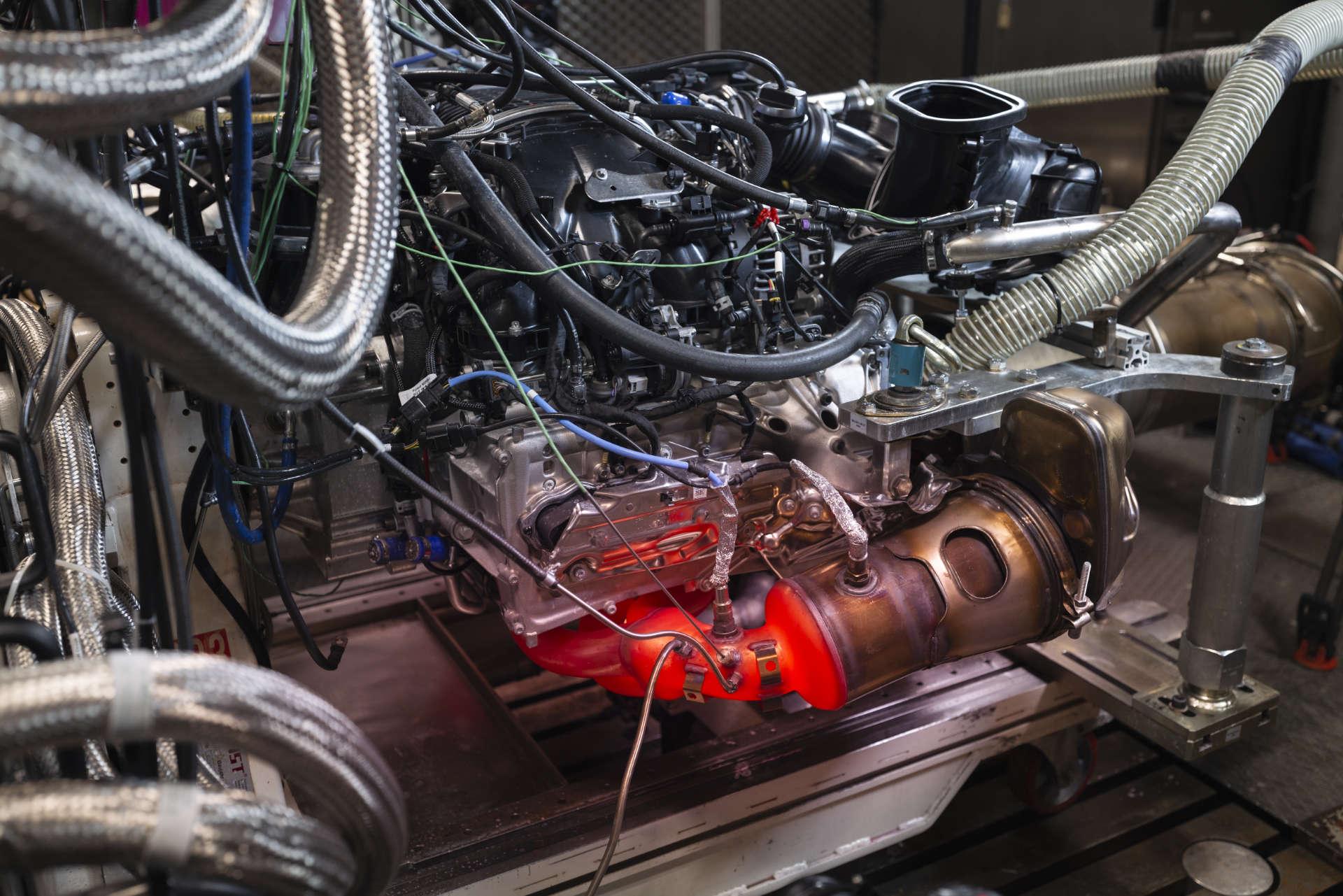 Porsche 911 GT3 Motorprüfstand