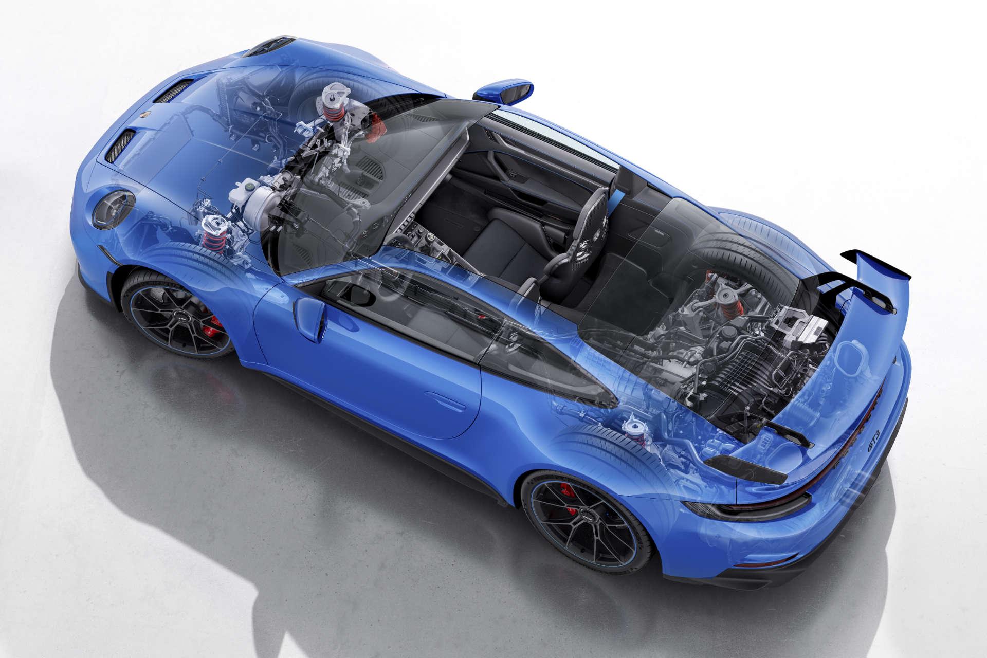 Porsche 911 GT3 Schnittzeichnung