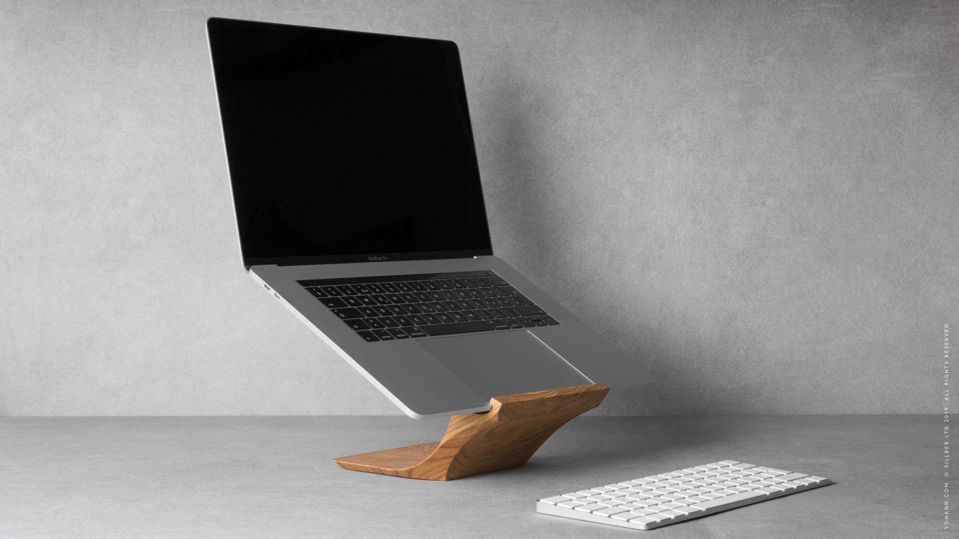 Yohann MacBook Stand Eiche Holz