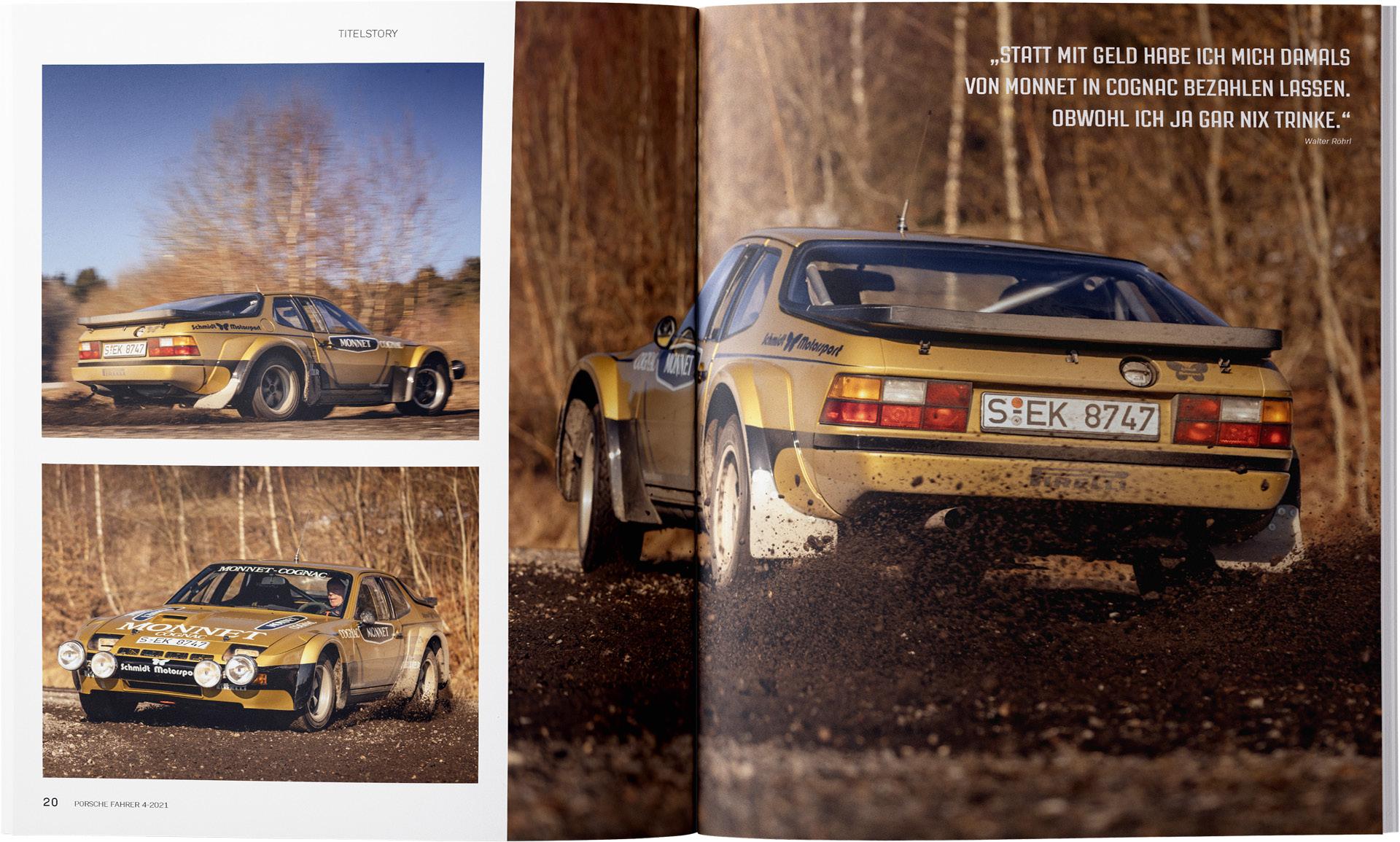 PORSCHE FAHRER Walter Röhrl 924 Rallye