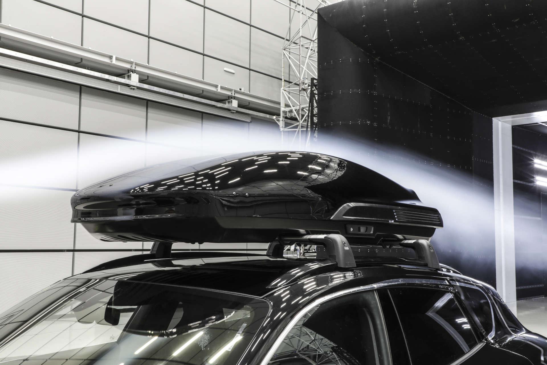 Porsche Dachbox Windkanal 2