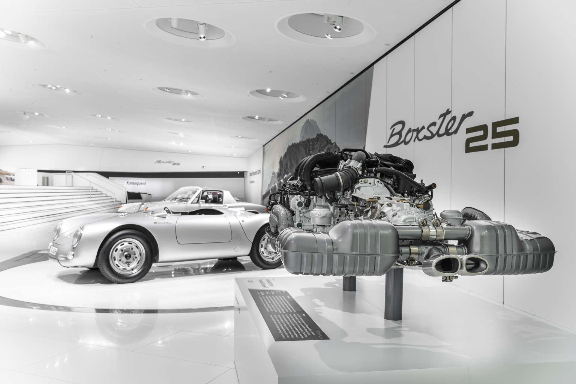 Porsche Museum 25 Jahre Boxster Motor