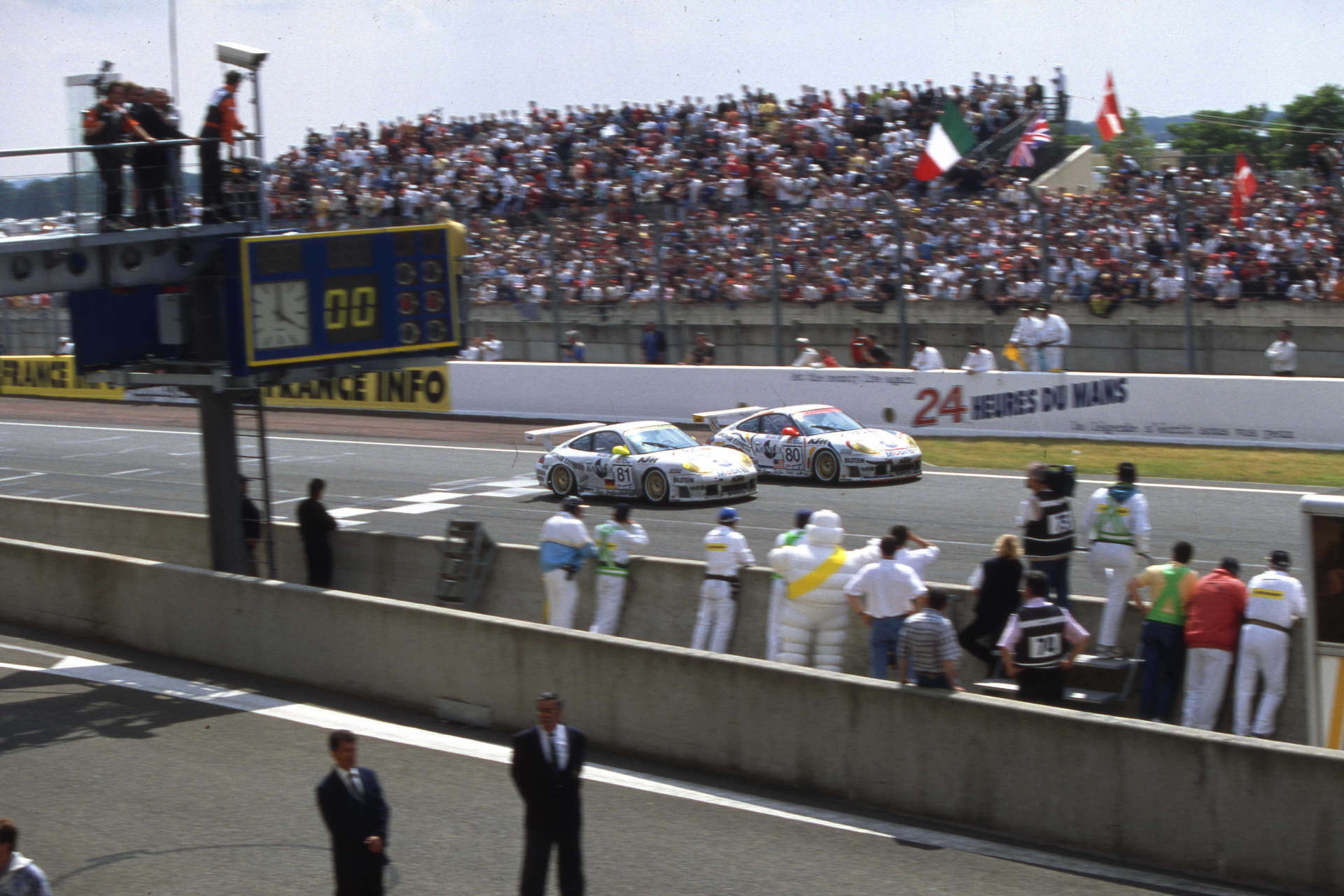 In Le Mans mit Stars and Stripes