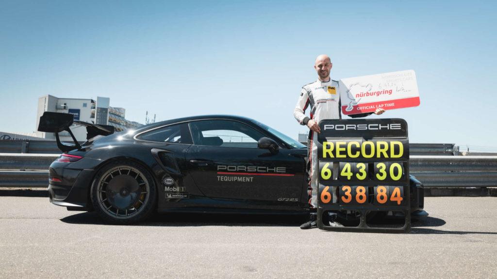Lars Kern Porsche Rekordfahrt Nürburgring