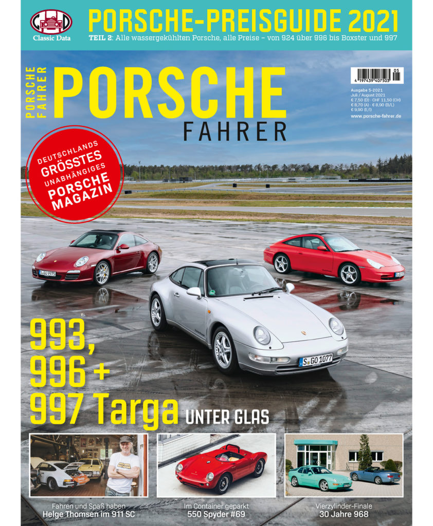 PORSCHE FAHRER Ausgabe 5-2021 Cover
