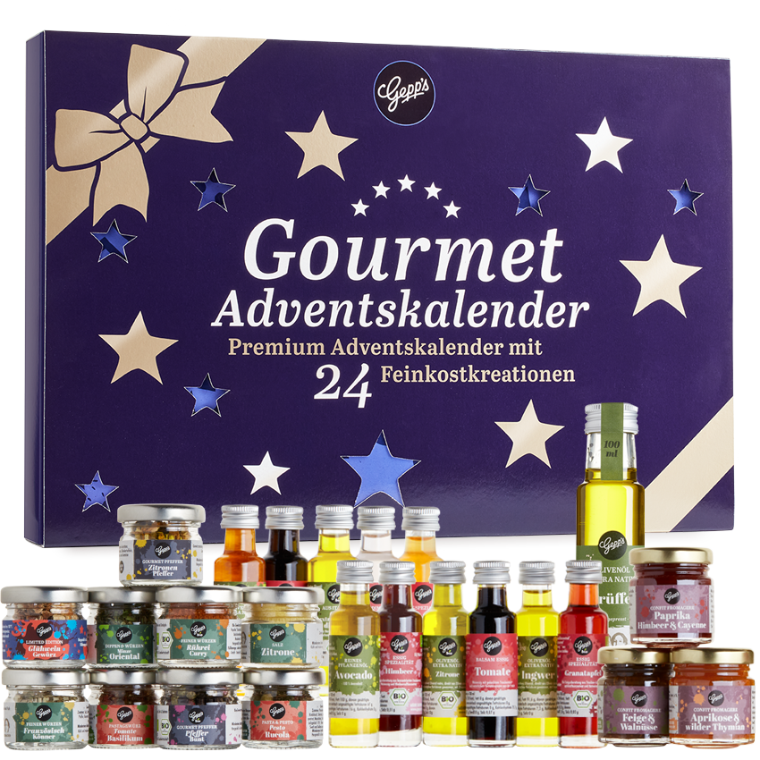 Gepps Gourmet Adventskalender Inhalt