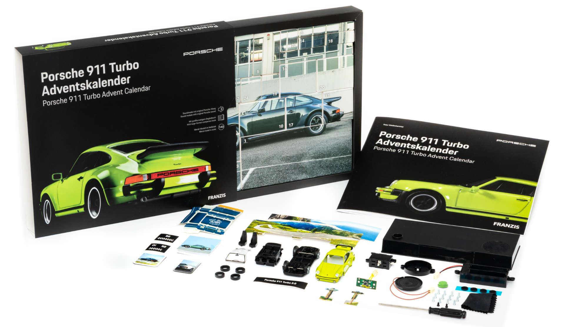 Porsche 911 Turbo Adventskalender Inhalt