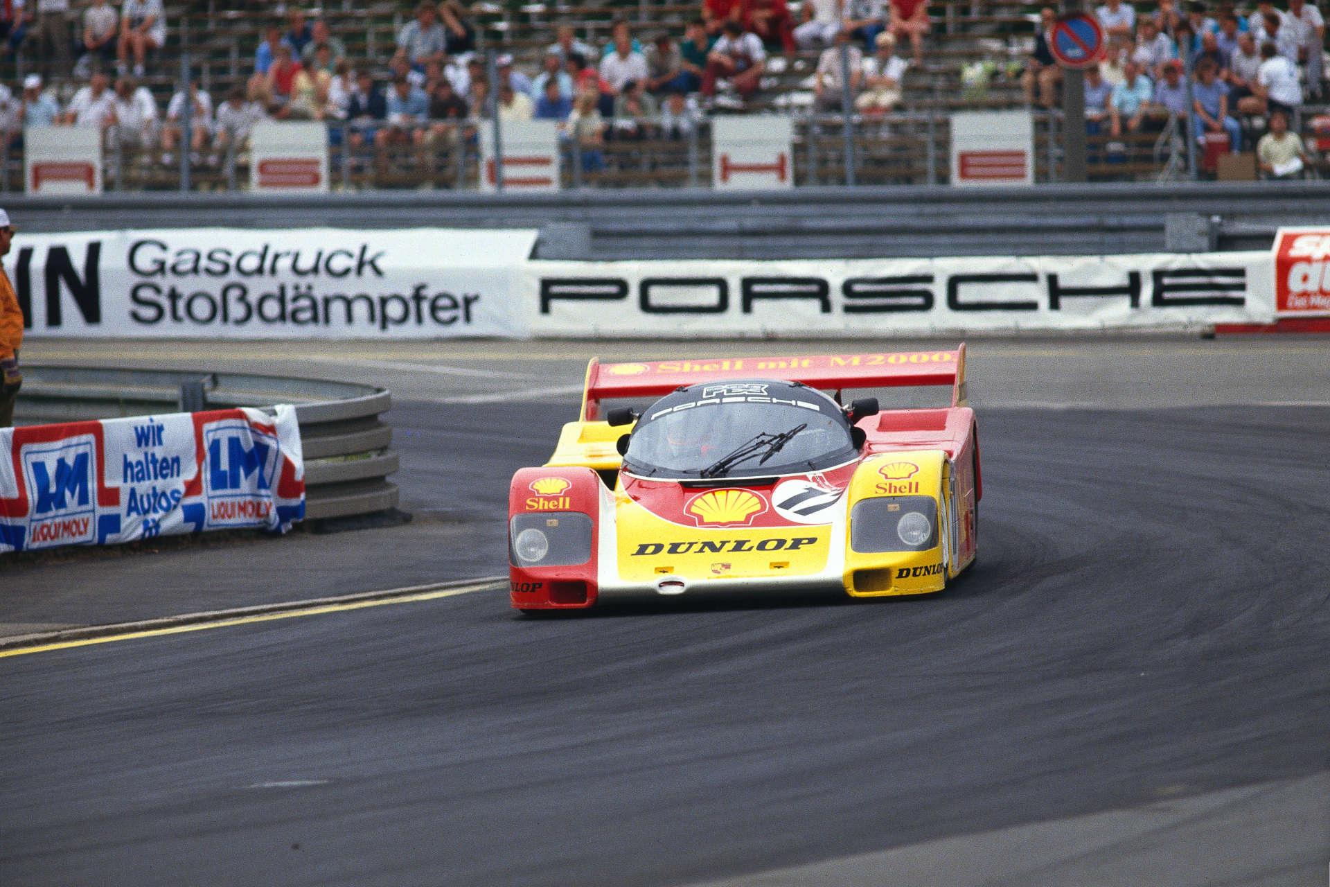 Porsche 962 C beim Supercup auf dem Norisring im Jahr 1987